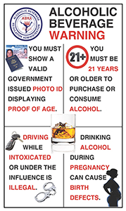 2013 Alcoholic Beverage Warning Sign