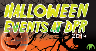 Banner reading Halloween Events at DPR