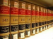 Bookshelves of law volumes